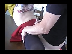 Mouth-watering crossdresser Lucy Robbins gets screwed by daddy