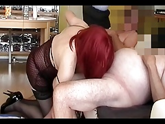 facial cumshot  for fantastic redhead crossdresser