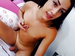 Spoiled fuckslut with smal knockers jacks and