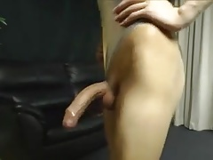 Pretty chinese crossdresser shegurl with succulent spunk-pump