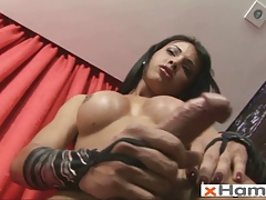 Spectacular Tranny Pummels 3 Fake penises and Shoots Jizm