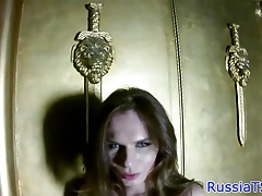 Bigtits russian shemale opens up her taut ass