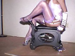 Transgender princess with pounding machine