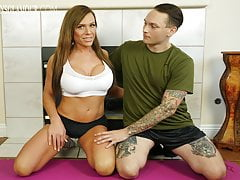 TGirl Trainer Gets Porked By Her Client's