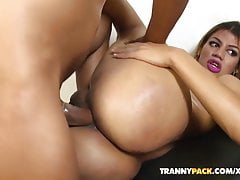 stunner Kenya Rodrigues gets a jizz flow on phat lubed funbags