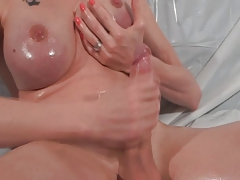 oiled-up and draining off