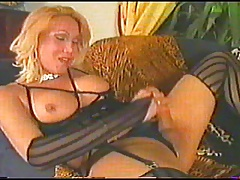 Insane uncircumcised tranny shoots massive jelly over herself (VHS)
