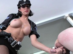 She-male cop  tatted bloke