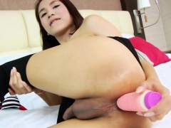 Sweet Asian Tgirl Nun Having Sport Here A Toy