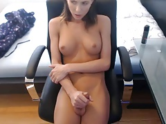 Ultra-cute  she-creature brilliant funbags toying with clean-shaved salami #3