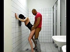 Stephanie hook-up in toilet