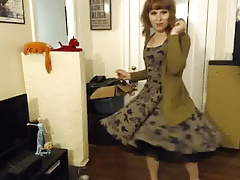 Stunning teenage crossdresser has cute surprise under the microskirt