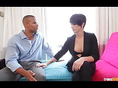 Ladyboy Nina Lawless getting her  plunged and romped