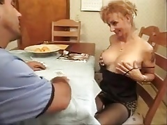 Nasty mature turns cards for man-meat