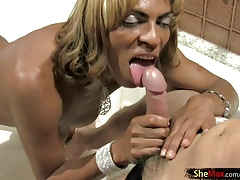 Black ash-blonde  likes rump frigging and ginormous schlong fellate