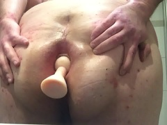 sissy ass-plug and gape
