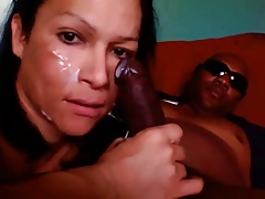 Tgirl Throating Big black cock & Taking Big