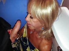 Pauline's Clubbing Joy (in the toilets).
