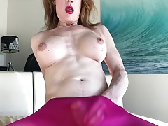Mature Ladyboy Sploogs   In No hands Spunk