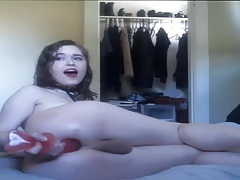 Magnificent  Flesh Trans Damsel Enjoyment Herself with Faux-cock