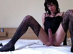 Inexperienced Russian Tgirl Smashes Fuck stick
