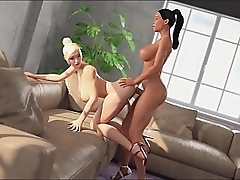 TGirl makes a blowjob up their way TS girlfriend. She discomposed rub-down the girl, added to persuaded up attempt anal sex. Shemale Appropriately - XXX TS Doll seduces Tranny, 3D Futa Hentai Intercept Porno