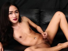 Asian tgirl solo conditions pest be advantageous to chum around with annoy camera