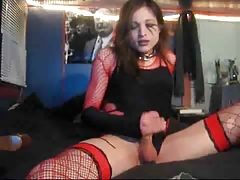 Unexperienced Tgirl Finishes off