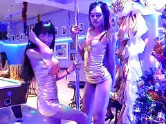 Scorching Thai She-males Dancing in Bangkok Club