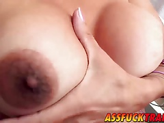 Buxom blonde shecock Samara Lauys plows a cool man Pablo