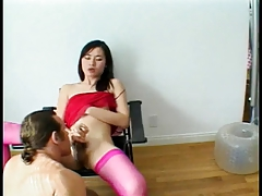 Super-fucking-hot transgender princess and  deep throats each others shaft in  pose