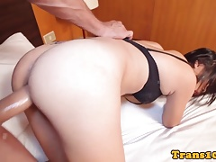 Assistant ladyboy assfucking doggystyle
